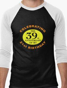 Funny 60th Birthday (Anniversary) Men's Baseball ¾ T-Shirt