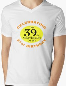 Funny 60th Birthday (Anniversary) Mens V-Neck T-Shirt
