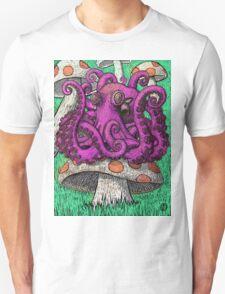 Octopus on Mushrooms T-Shirt