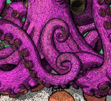 Octopus on Mushrooms Sticker