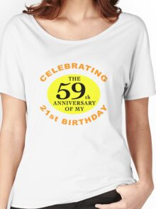 Funny 80th Birthday (Anniversary) Women's Relaxed Fit T-Shirt