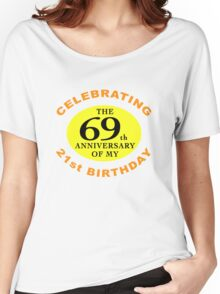 Funny 90th Birthday (Anniversary) Women's Relaxed Fit T-Shirt
