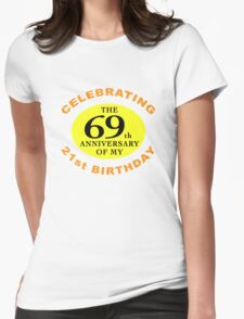 Funny 90th Birthday (Anniversary) Womens Fitted T-Shirt