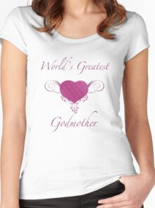 World's Greatest Godmother (Heart) Women's Fitted Scoop T-Shirt