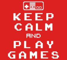Keep Calm Play Games Baby Tee