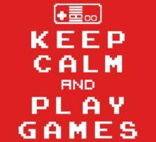Keep Calm Play Games Kids Tee