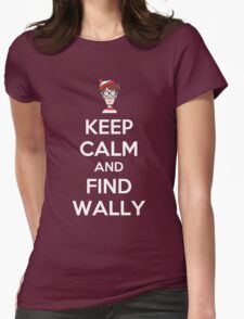 Keep Calm And Find Wally Womens Fitted T-Shirt