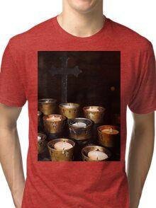 Church Candles Tri-blend T-Shirt
