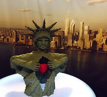 Lego Statue of Liberty, Art of the Brick Exhibition, Discovery Times Square, New York City, Nathan Sawaya, Artist by lenspiro