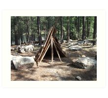 Teepee Visitors of Willows Springs Made Art Print