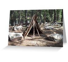 Teepee Visitors of Willows Springs Made Greeting Card