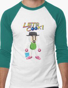 BomberWhite Men's Baseball ¾ T-Shirt