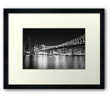 New York City - Queensboro Bridge - Night Framed Print