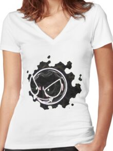 Gastly Women's Fitted V-Neck T-Shirt