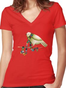 New Scarf Women's Fitted V-Neck T-Shirt
