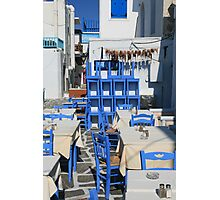 Greek Restaurant Photographic Print
