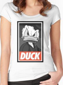 DUCK (Donald Duck) Women's Fitted Scoop T-Shirt