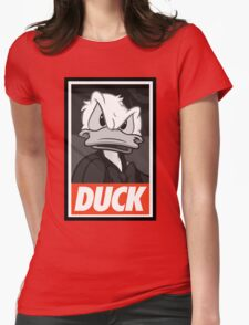 DUCK (Donald Duck) Womens Fitted T-Shirt