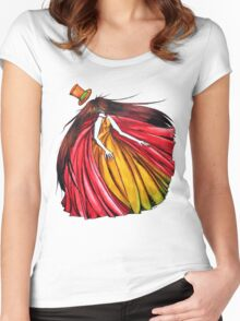 """""""Who is the mad hatter ?"""" : Le Chaperon Rouge / The Red Riding Hood Women's Fitted Scoop T-Shirt"""