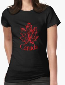 Canadian Red Maple leaf Womens Fitted T-Shirt