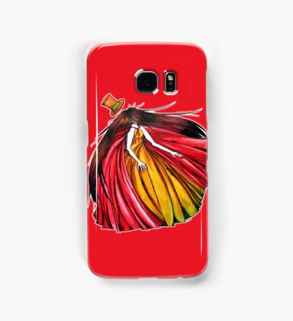 """Who is the mad hatter ?"" : Le Chaperon Rouge / The Red Riding Hood Samsung Galaxy Case/Skin"
