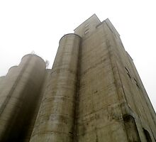 Silos In The Mist by WildestArt