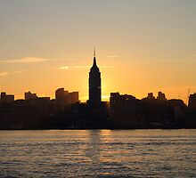 Sunrise Behind Empire State Building ! by pmarella