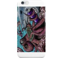 Giant Pacific Octopus versus Great White Shark iPhone Case/Skin