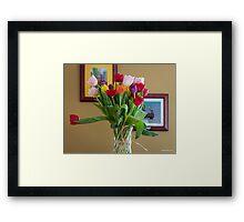 Birthday Tulips Framed Print