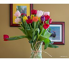 Birthday Tulips Photographic Print