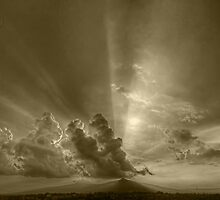 ©HCS Sunshine Between Cumulonimbusw Castellanus I In Monochrome by OmarHernandez