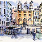 Genova Piazza Banchi by Luca Massone  disegni