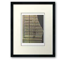 Candy Black Framed Print
