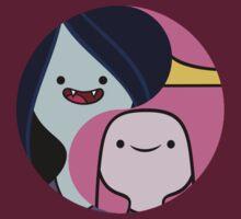 Marceline and Princess Bubblegum yin yang by TheBatbot