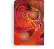 Red Magic, abstract fractal art Canvas Print