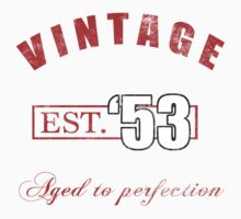 Est. 1953 Vintage Birthday by thepixelgarden