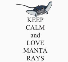 Keep calm and love manta rays One Piece - Long Sleeve