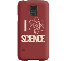 Excuse Me While I Science: I Love Science - Black Text Version Samsung Galaxy Case/Skin