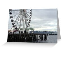 Cloudy Day in Seattle Greeting Card