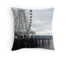 Cloudy Day in Seattle Throw Pillow