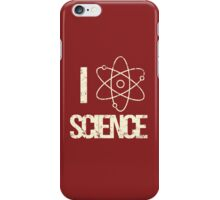 Excuse Me While I Science: I Love Science - White Text iPhone Case/Skin