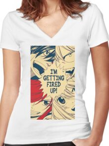 Fairy Tail Fired Up (Hope) Women's Fitted V-Neck T-Shirt