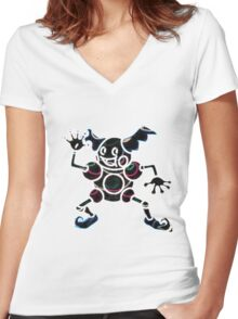 Mr. Mime Women's Fitted V-Neck T-Shirt