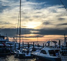 Newport Sunset #1 by Sara Bawtinheimer