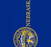 Smartphone Case - State Flag of Nebraska - Vertical II by Mark Podger