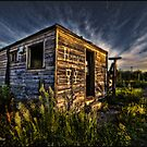 Sunset On Hank's Love Shack by Ted Byrne