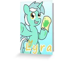 Lyra Greeting Card