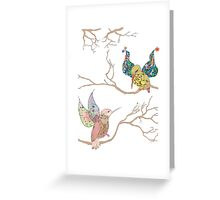 Bird Talk Greeting Card