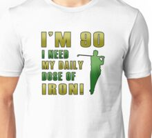 90th Birthday For Golf Lovers Unisex T-Shirt