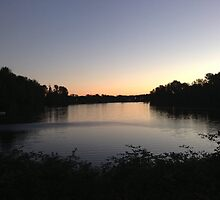 Horseshoe Lake - Evening Sky by mirilcotton